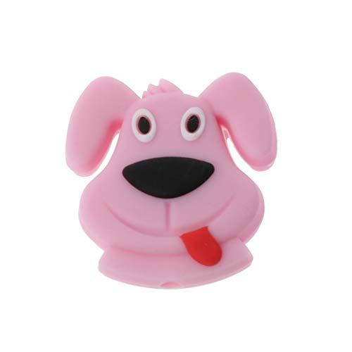 Prove Silikon Beißringe Mini Hundefutter Qualität BPA Kostenlos DIY Zahnen Pflege Geschenke Lose Perlen Baby Beißringe Pink