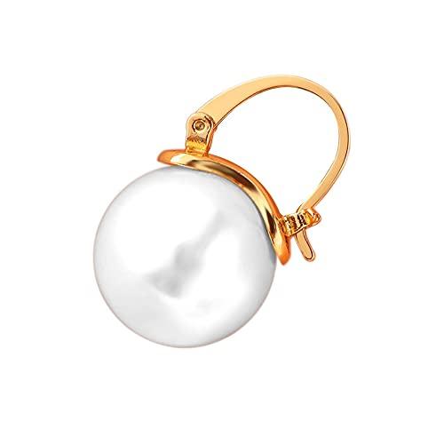 Pendientes Color Pendientes De Perlas Latón Pendientes Chapados En Oro Joyas Texturizadas De Lujo Ligero