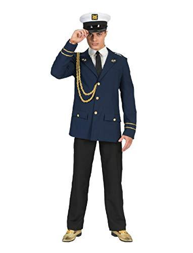 Pierro's Karnevalshop Marine Kapitän Jack Kostüm - Blau Gold - Gr. 48 50
