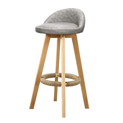 Tabouret tournant de Bar, tabourets Hauts Modernes en Bois Plein, chaises ergonomiques de Dossier conçues for Le Restaurant, Le Bureau, Le comptoir et la Famille (Color : B)