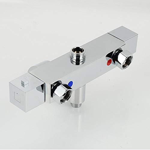 Thermostaat-douchemengkraan koperen warm en koud automatisch temperatuurmengventiel