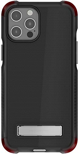 Ghostek Covert - Carcasa de silicona para iPhone 12 Pro Max con soporte de metal compatible con MagSafe y carga inalámbrica delgada delgada para iPhone 12 Pro Max 5G (6,7 pulgadas) (ahumado)