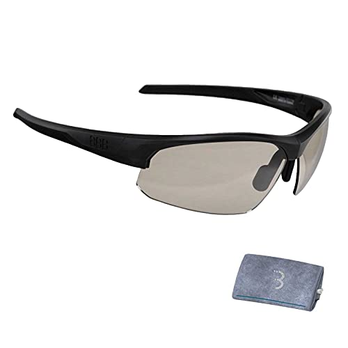 BBB Cycling PH BSG-58PH - Gafas de ciclismo fotocromáticas para protección solar, marco de policarbonato, barra de nariz ajustable, color negro mate
