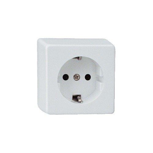 """Schutzkontakt-Steckdose (DueWI Schalterprogramm * Schalterserie """"Standard auf Putz"""" * 16 A * 250 V)"""