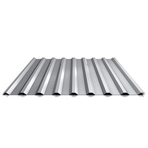 Trapezblech   Profilblech   Dachblech   Profil PS20/1100TR   Material Stahl   Stärke 0,63 mm   Beschichtung 25 µm   Farbe Weißaluminium