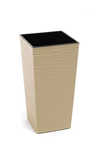 Maceta de plástico Finezia mella 350x350 mm, capuchino