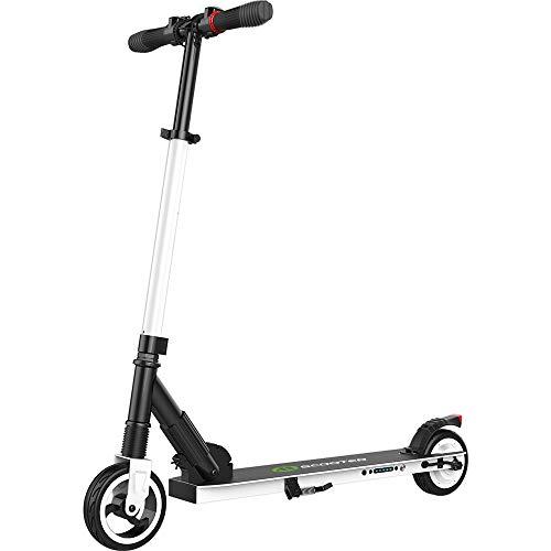 M MegaWHEELS - Patinete eléctrico con motor de 250 W, plegable y regulable en altura, scooter eléctrico ligero de 7,5 kg para espalda y adulto mixto – S1