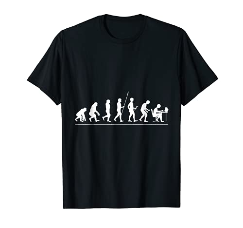 Evolución Nerd Nerdy Geek Informática Física Camiseta
