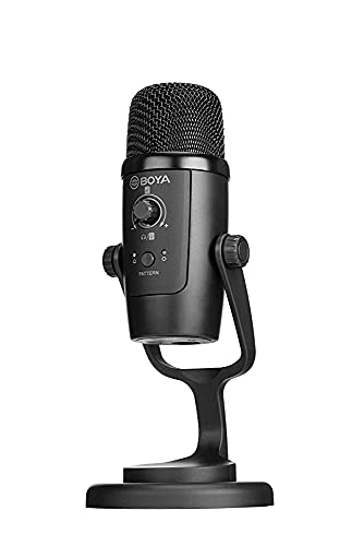 (Renewed) BOYA BY-PM500 USB Microphone compatible with C-type Smartphones, computers with USB port. For Youtubers, Music creators, Podcasters
