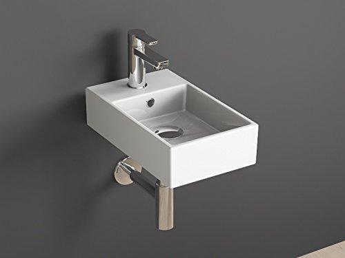 Aqua Bagno | Design Waschbecken für Gäste-WC Waschtisch Gästebad klein Keramik weiß 25x42 cm