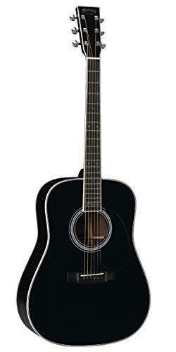Martin Guitars DX Johnny Cash Signature Edition Acoustic-Electric Guitar with Gig Bag, HPL Construction, Modified D-14 Fret, Performing Artist Neck