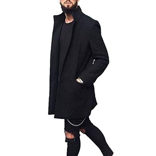 Mxssi Gabardinas Hombre Otoño Invierno Trench Coat Hombres Chaquetón Abrigo Casual Slim Fit Windbreaker
