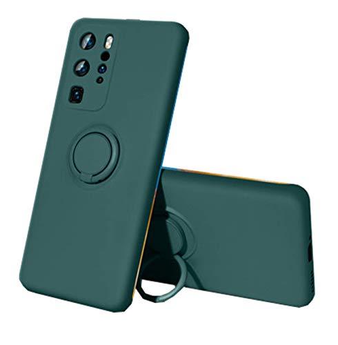 Compatible con Huawei P30 Lite funda Huawei P30/P30 Pro, de silicona, protección líquida, soporte magnético para coche, soporte de 360 grados Verde 1 Talla única