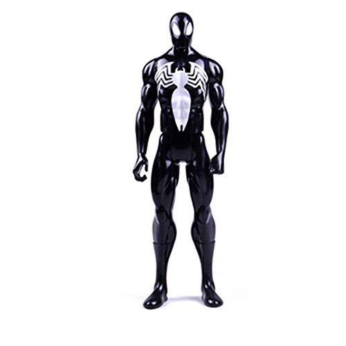 QYZHCP Schwarzes Spider-Man-Modell, Anime-Zeichentrickfilm-Figur Spider-Man-Legenden-Serie 6-Zoll-Marvel Infinite War Titan Hero-Serie Spider-Man Geschenk