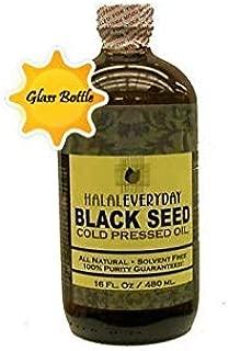 Black Seed Oil - 16 oz Glass Bottle. 100% Pure & Cold-Pressed. Unfiltered, Undiluted, Raw. Non-GMO & Vegan Nigella Sativa (Black Cumin). Hexane & preservatives Free. Dark & Potent