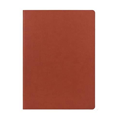 hsj Cuaderno ordenado simple grueso y exquisito cuaderno de estudio, bloc de notas de oficina ordenado (color: marrón, tamaño: 21 x 29,7 cm)
