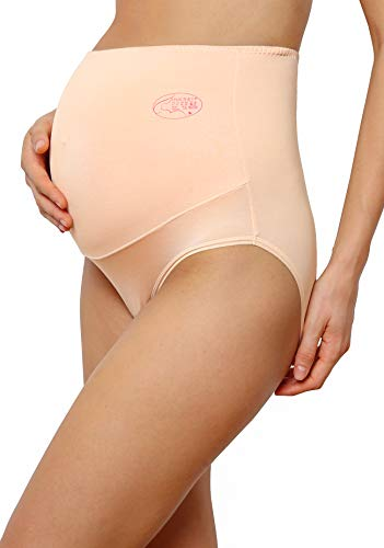 Innersy Damen Schwangerschaftsunterwäsche, extra weich, hohe Taille, 3 Stück Gr. 46, Solide Farben