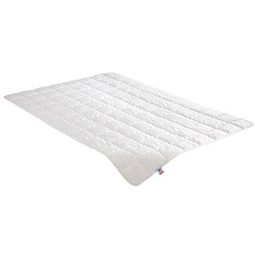 Irisette Steppbett Wasch-Seide, 60% Wildseide, 40% Baumwolle, inkl. Aufbewahrungstasche, 155 x 220 cm, weiß