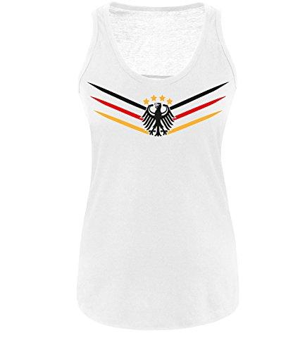 Luckja WM 2018 Deutschland Trikot M 02 Damen Tanktop- Gr. XS, Weiß