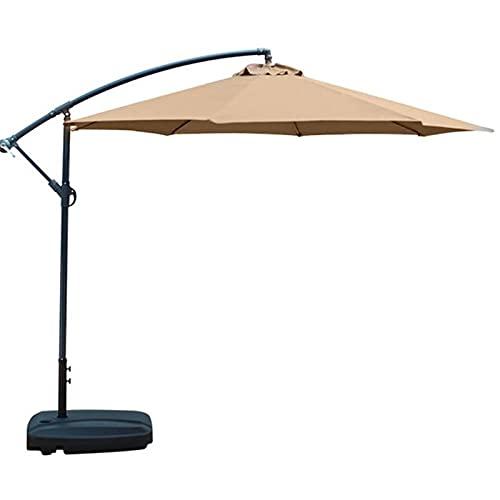 WEARRR Sechskantform 2M Regenschirm Baldachin Abdeckung Sonnenschirm Regenschirm Abdeckung Schutz UV-resistenter Innenhof Strand staubdicht verblassen (Color : Khaki)