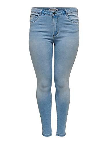 ONLY Carmakoma Female Skinny Fit Jeans Curvy CarAugusta HW 4632Light Blue Denim