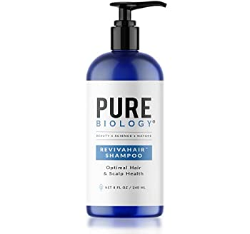 Pure Biology Premium RevivaHair Hair Growth Shampoo   Biotin Shampoo with Clinically Proven Procapil  DHT Blocker Keratin Complex   Shampoo for Thinning Hair and Hair Loss Women & Mens Shampoo 8oz