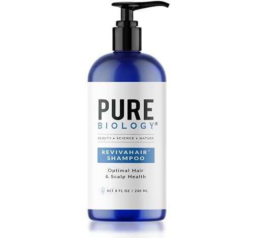 Pure Biology Premium RevivaHair Hair Growth Shampoo | Biotin Shampoo with Clinically Proven Procapil; DHT Blocker Keratin Complex | Shampoo for Thinning Hair and Hair Loss, Women & Mens Shampoo 8oz