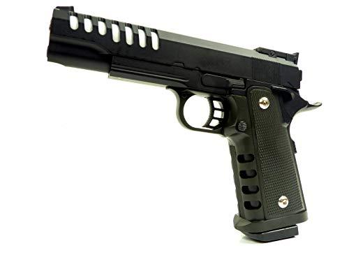 Seilershop Softair Gun Airsoft Vollmetall R16 Federdruck Pistole 22cm 0,5 Joule
