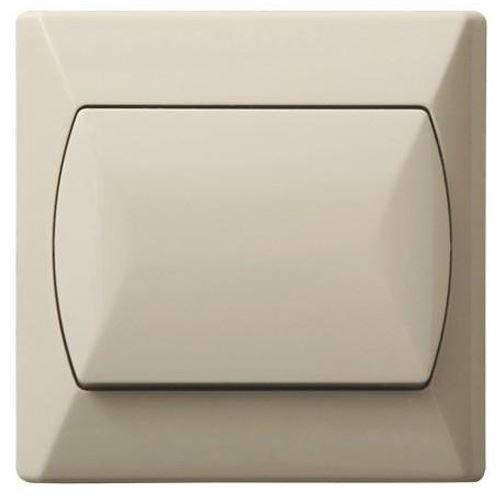 Grote eenvoudige interne schakelaar Basic klik wandplaat beige