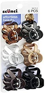 Scunci Effortless Beauty Octopus Jaw Clips Size - 4cm (2-Pack of 6)