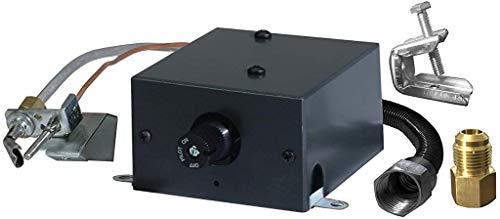 SkyTech AF-LMF Millivolt Manual Safety Pilot Kit for Gas Logs, Black