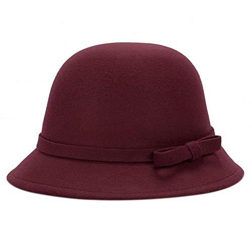 Gorros Diseño De Moda Bowknot Sombrero Melón Sombrero De De Fieltro Sombrero Años 20 De Mujer Damas Cálido Y Elegante Dorado Otoño Invierno 1 Gorras