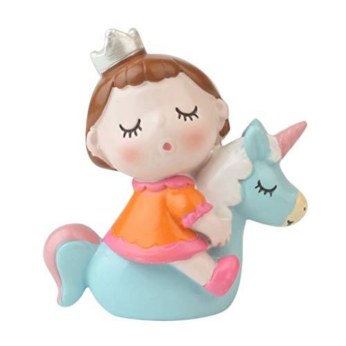 SDENSHI Fairytale Theme Cake Topper ABS Resina Favor de Fiesta de Cumpleaños - tal como se describe, Merry Go Round