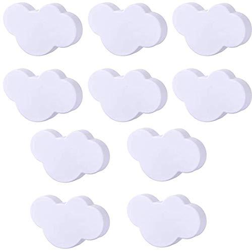 10pcs gabinete maneja perillas de puerta niños nube Mangos de la puerta del gabinete perillas del cajón con tornillo, cajón Perilla Tirador para estar Cocina perillas niños Armarios Armarios Toy Box