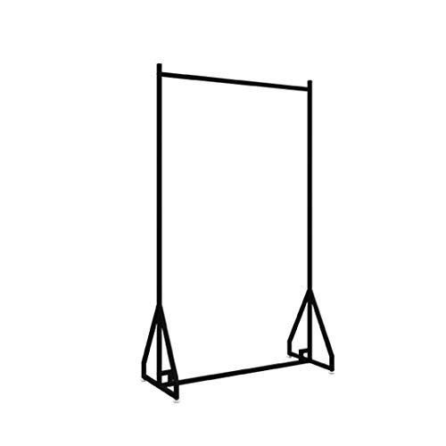 CSQ-Wall Coat Racks Metal Wedding Frame, Landing 200CM Super Long Clothes Rail Black Bridal Shop Display Stand Outdoor Bed Sheet Quilt Clothes Rail Clothes Shelves