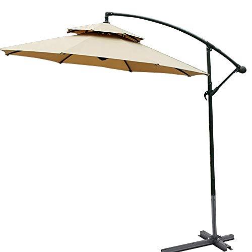 SBDLXY Sombrilla para Exterior Banana Umbrella Colgante en voladizo con Sistema de manivela Tejido de poliéster - Impermeable y Transpirable Ángulo Ajustable para Patio/terraza/jardín