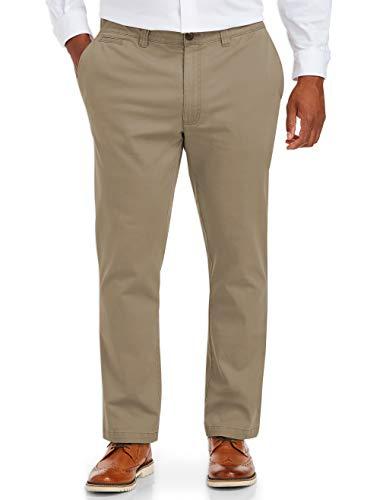 Amazon Essentials Men's Big & Tall Tapered-Fit Broken-In Stretch Chino Pant fit by DXL, -Khaki, 54W x 30L