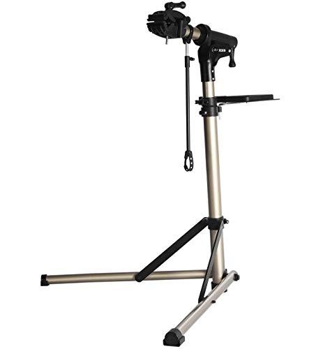 CXWXC Fahrradmontageständer höhenverstellbar Fahrrad Reparaturständer aus Aluminiumlegierung für Ges (Champagner)