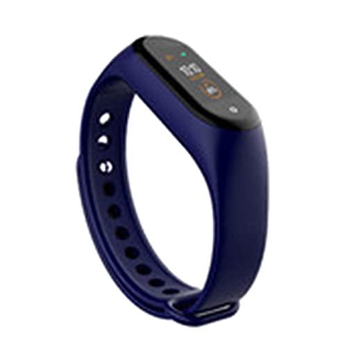 MARSPOWER M4 Pantalla Colorida Pulsera Inteligente Podómetro Cuidado de la Salud Multideportivo Rechazo de Llamadas Reloj Inteligente de sueño Saludable - Azul