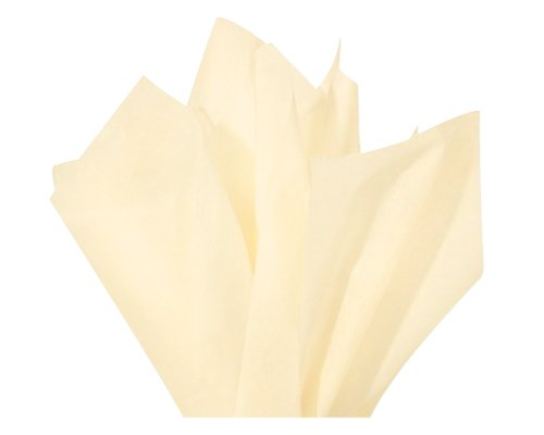 Flexicore Packaging Ivory Gift Wrap Tissue Paper Size: 15 Inch X 20 Inch | Count: 100 Sheets | Color: Ivory