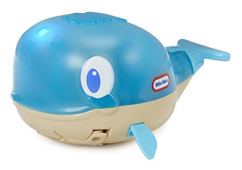 Little Tikes 643552GR Sparkle Bay Spritzwal Whale Squirter, leuchtendes Wasserspielzeug mit Schwimm- und Wasserspritzfunktion, Badewannenspielzeug für Kinder ab 18 Monaten