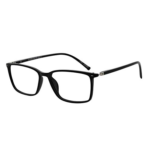 MARE AZZURO Reading Glasses Men Stylish Readers 0 1.0 1.25 1.5 1.75 2.0 2.25 2.5 2.75 3.0 3.5 4.0 5.0 6.0 (Black 200)