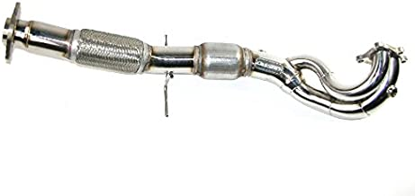 CORKSPORT 2007-2013 Mazdaspeed 3 Exhaust - Power Series Downpipe with Highflow Cat - Non OEM Sized 80mm Connection on Exhaust Side - Stainless Steel T304 (Axl-6-112-11)
