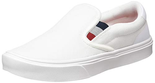 Tommy Hilfiger Mens Malcolm 20D Slip ON Sneaker, White, 42 EU