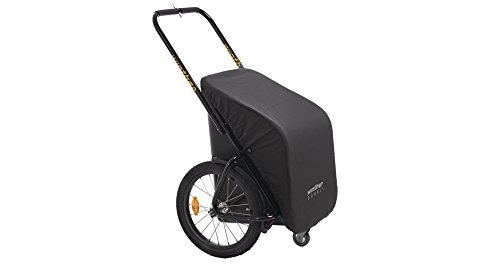Unbekannt Winther Donkey Classic schwarz - der praktische Anhänger für`s Fahrrad (Stauraum: 65 Liter/Zuladung: 40 kg) inklusive Pletscher-Kupplung