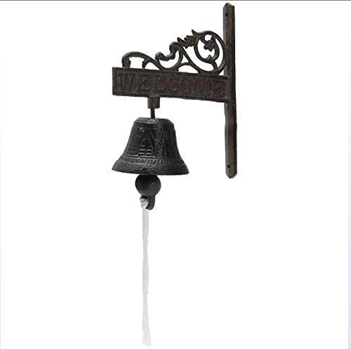 Reed's Bell Huis Muur Versierd Land Antieke Gietijzeren Hand Klok Bell Retro Bloemen