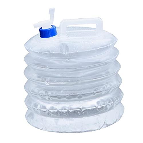 Ajuste de Volumen de Salida Ajuste de Agua Barril Coche Portátil Plegable Agua Portador de Agua Tetera de Cubo con asa (Color : Colorless)