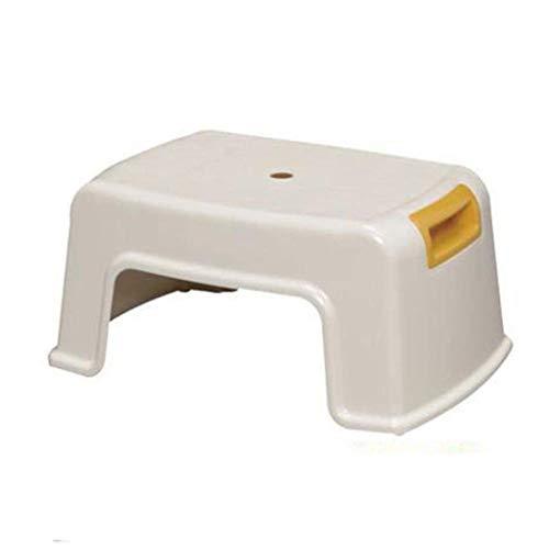 MWPO Reposapiés Taburete Reposapiés Sofá Taburete Taburete de baño de plástico Antideslizante Hogar (Tamaño: 35 * 25 * 16 cm)