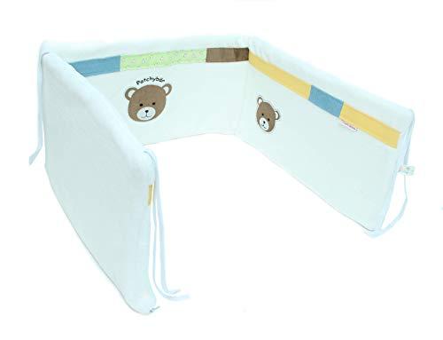 Baby Bettumrandung für Betten mit Breite 60-70cm / Nestchen 170 x 30 cm | ÖkoTex 100 | Schadstoffgeprüft | (Jungs)