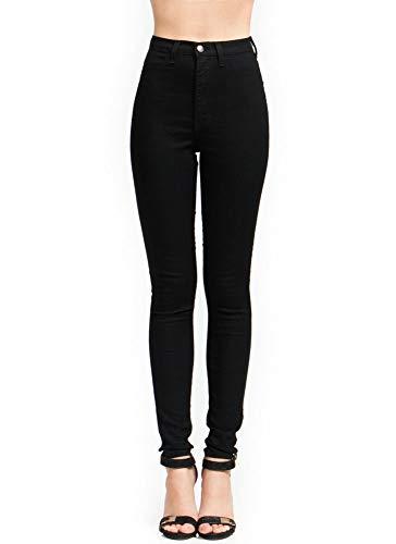 High-Waisted Skinny Jeans Black Size 11